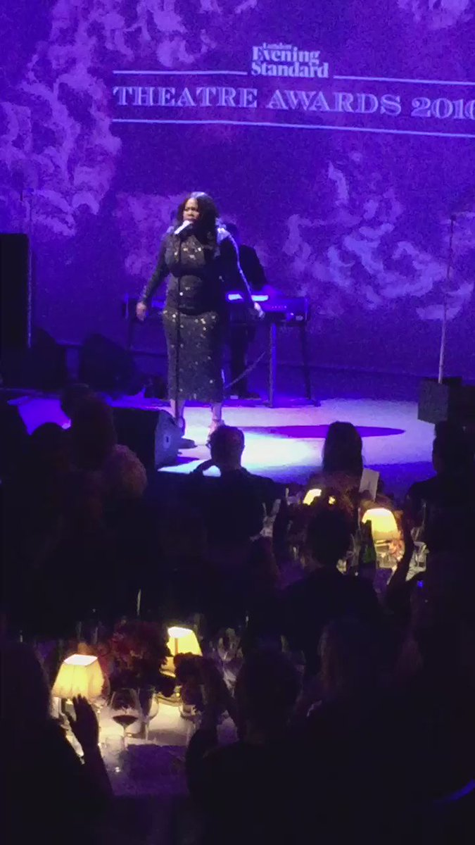 Amber Riley takes to the stage to perform a song from Dreamgirls #ESTheatreAwards https://t.co/YxOc9FxXbx