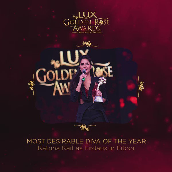 That persona, wit and those abs won #KatrinaKaif the Desirable Diva Award at the #LuxGoldenRoseAwards. Well deserved, for sure. https://t.co/6OMvP24C7C