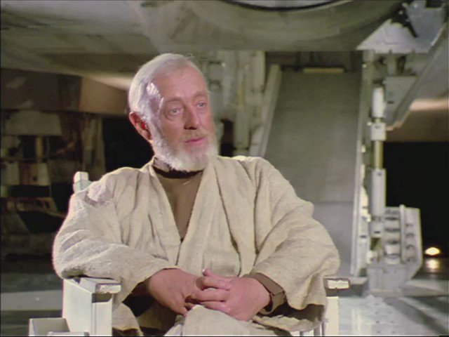 Rarely seen interview with Alec Guinness on the set of Star Wars, 1976. https://t.co/UAuYy3RSza