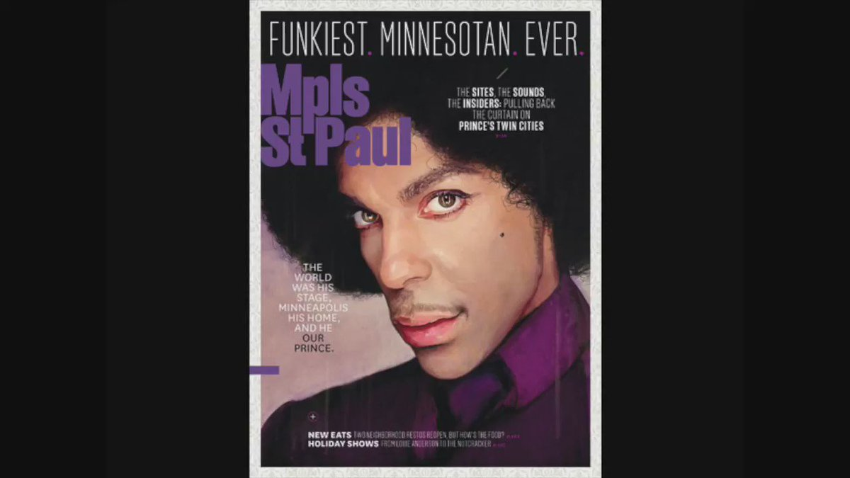 The world was his stage, Minneapolis his home, and he our Prince. Pick up our December issue on newsstands now! https://t.co/AjvoyQrbFc