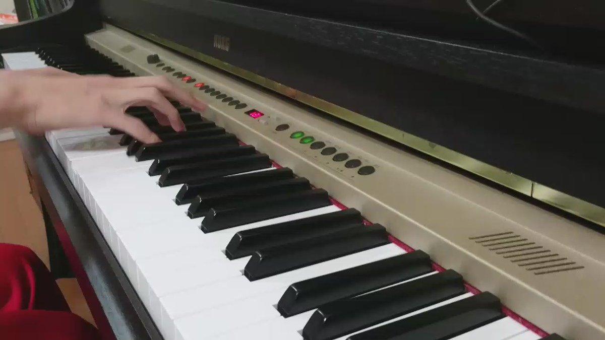 「けいおん」のU&Iを耳コピで弾いてみた(*´∇`*)#けいおん#平沢唯生誕祭2016