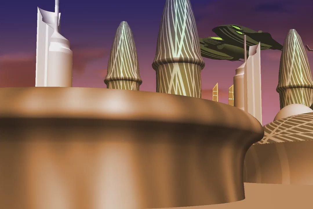 とあるガミラスの植民惑星のつもり\(^0^)/Photoshopの3D、頻繁に不具合発生するものだから、たったこれだけの