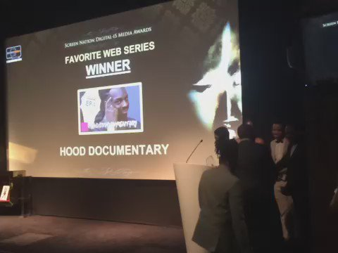 The winner of the favourite web series is #hooddocumentary! #digitalismediaawards https://t.co/iFs8d0O48h