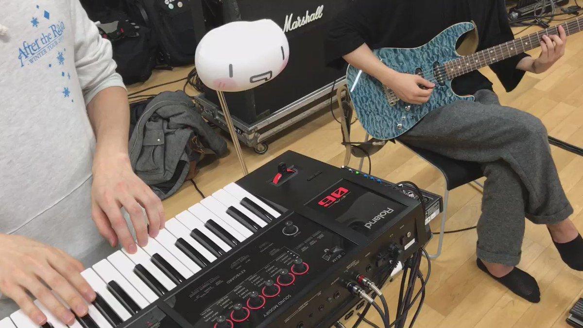 ATRリハですcakeさんの指ドラムと一緒にギターの練習です  ベルセルクです楽しそうだなーボクたちやたら楽しそうだなや