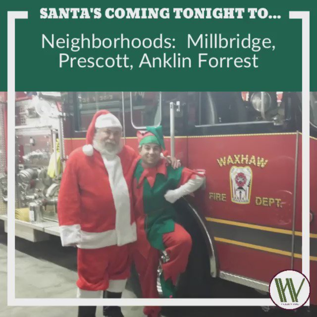 The next stop on Santa's tour!  For the list of streets to gauge their route, click on the link: