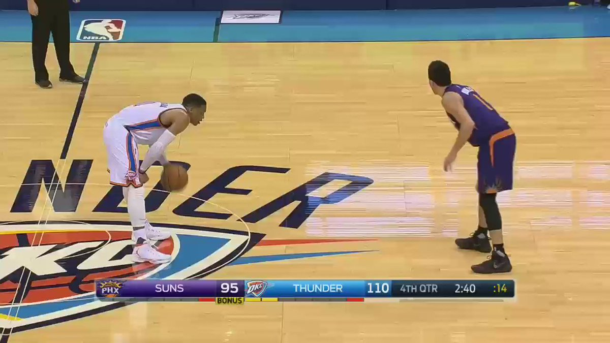 Russell Westbrook unleashes the #Shammgod! https://t.co/xae2eVTCgE