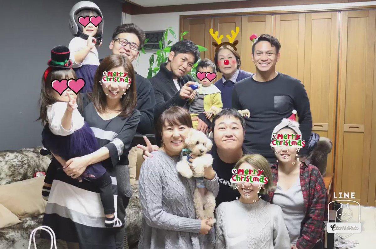 今日はカープの小窪くん、會澤くん、田中くんファミリーとクリスマス会しました