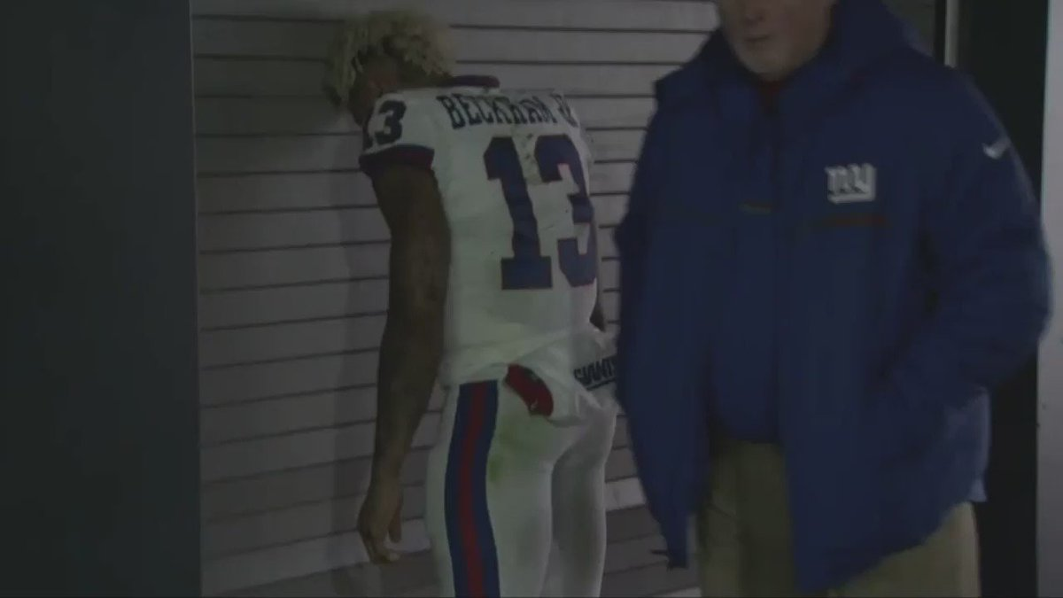 A distraught @OBJ_3 after the Giants loss in Philly https://t.co/r0P8CMGky5