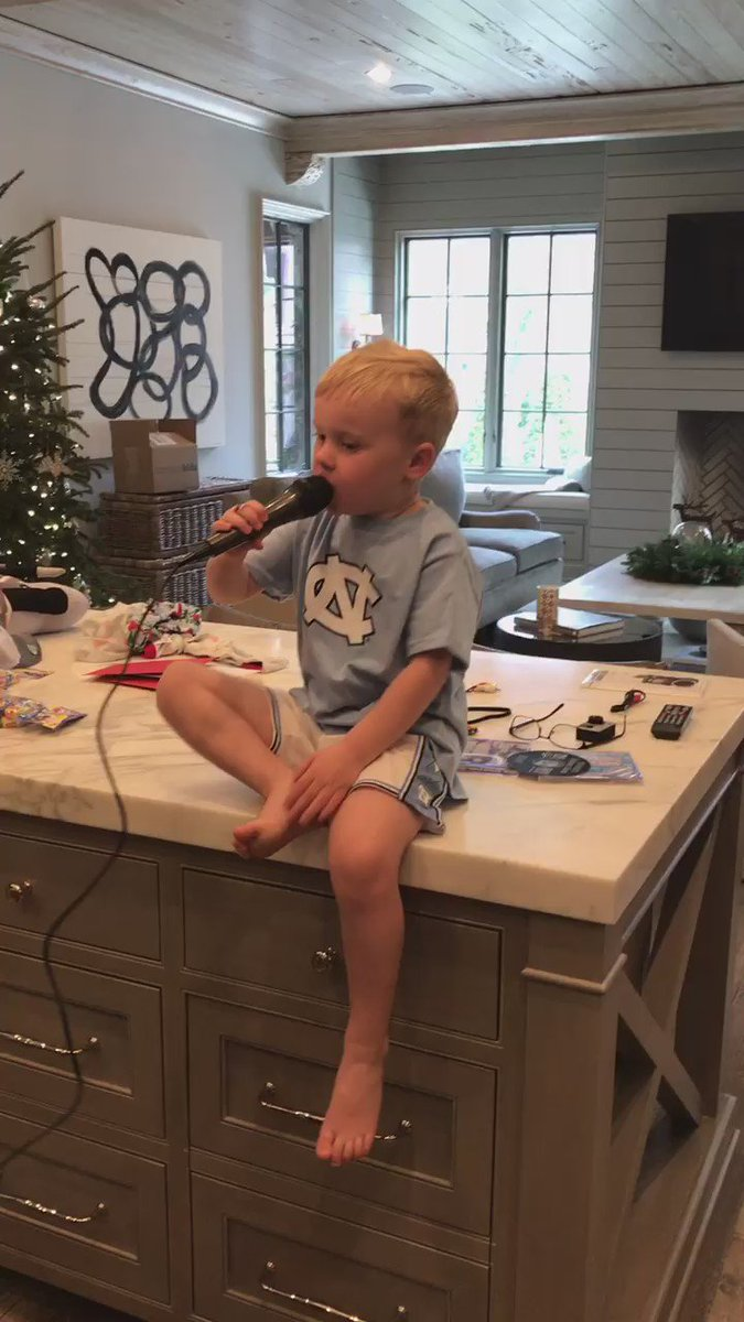 Not exactly how I though little man would use his karaoke machine, but whatever...
