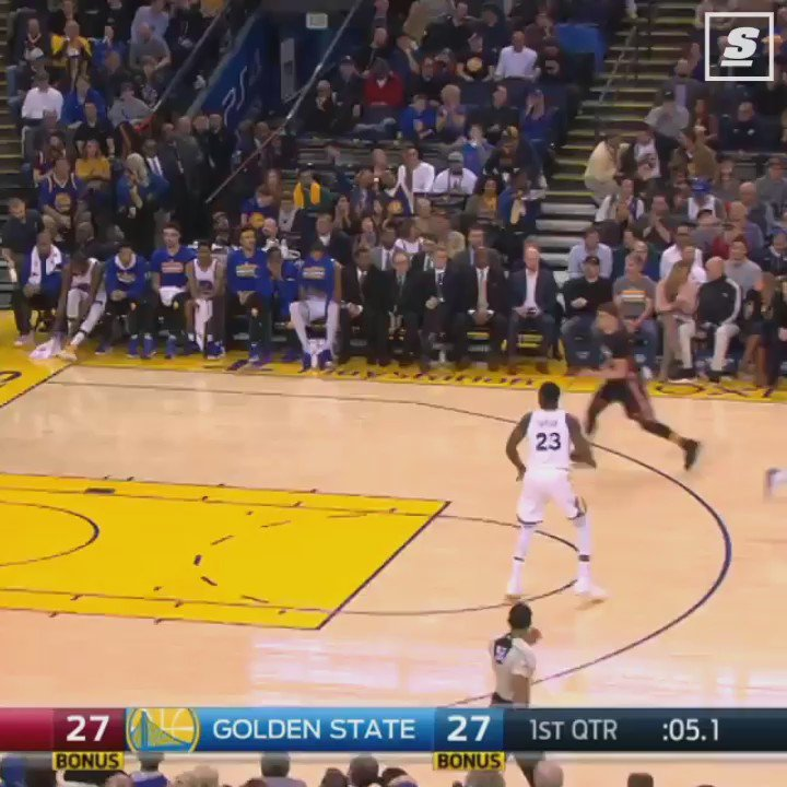 Stephen Curry's life flashed before his eyes. https://t.co/Syuz2AKXiU