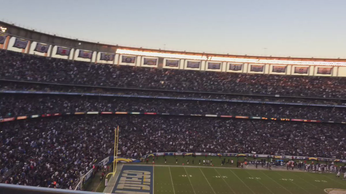 #tbt to when #RaiderNation took over San Diego and the Q...in the final #Raiders vs #Chargers game in San Diego https://t.co/oV7dUoPegr