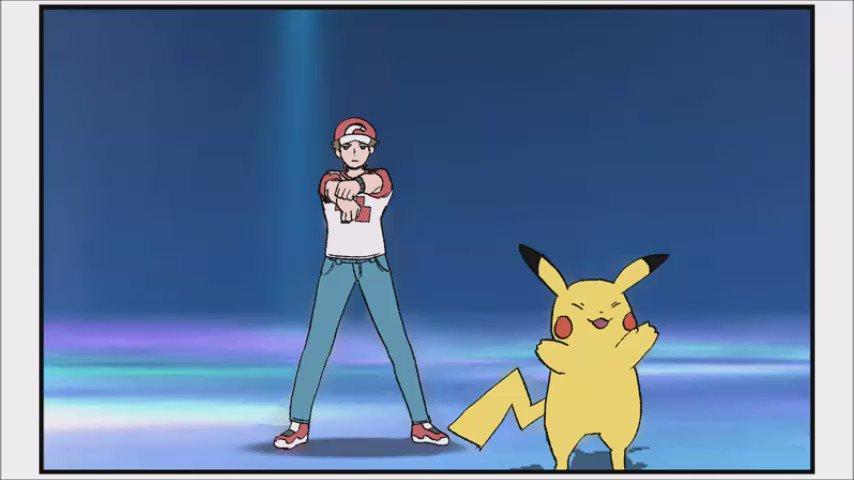 【ポケモン】サンムーンレッドのピカチュウZ技トレス動画できたよー