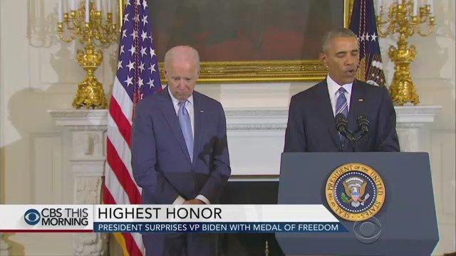 President Obama surprised VP Joe Biden with the Presidential Medal of Freedom on Thursday