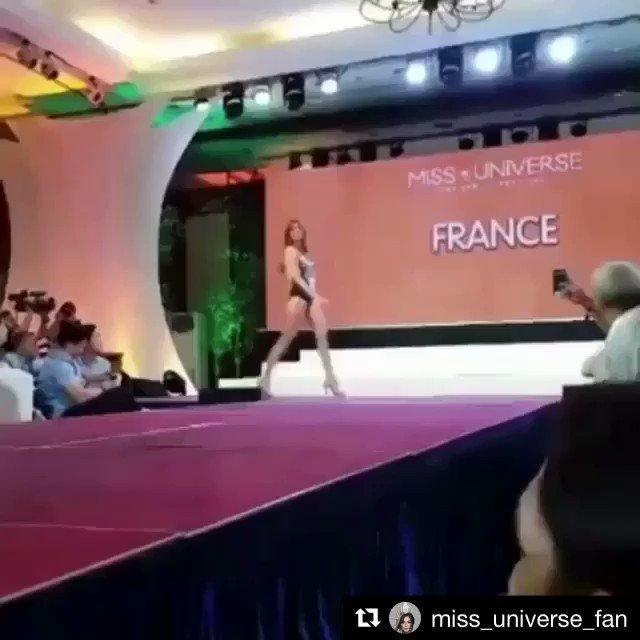 Hier, présentation maillot de bain à @MissUniverse pour @IrisMittenaereO 🇫🇷👙#MissUniverse #France #Body