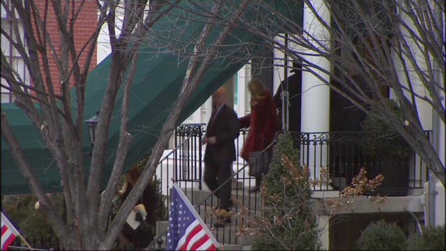 .@realDonaldTrump and @MELANIATRUMP depart Blair House for #inaugurationday
