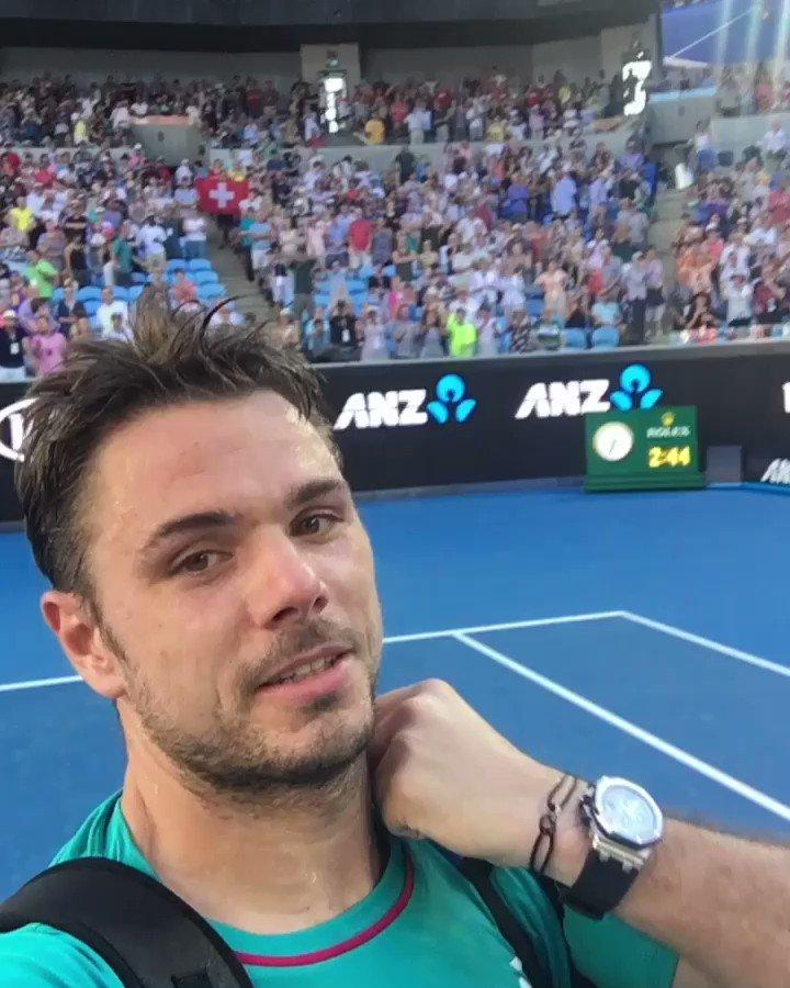 Amazing support ¬レᄀᄌマ゚ルピマᄏ¬タヘ¬ルツᄌマ゚メᆬ!! See you in quarter !! ゚ᄂᄋ゚マᄏ¬タヘ¬ルツᄌマ゚ルト゚メᆰ゚マᄏ゚メᆬ¬リタᄌマ゚ホノ゚ヘᄅ゚ミᄏ゚リリ゚ミᄐ @AustralianOpen #AOSelfie https://t.co/schz10lLfg