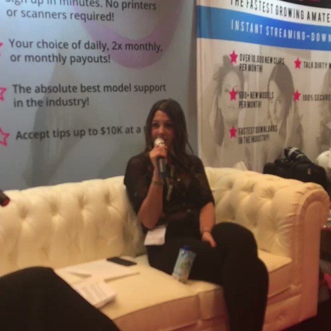 That's the last of Ceara's interview. Come by our booth and meet her if you'd like! #iWantClips #AVN