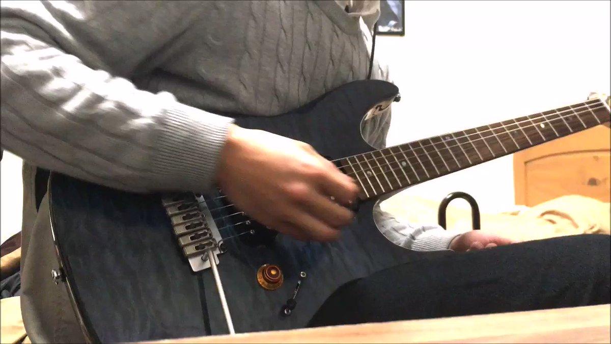 """ゆいかおり""""ring ring rainbow""""のギターソロ抜粋して弾いてみた。なんだかんだアニソンの中でもかなり好きな"""