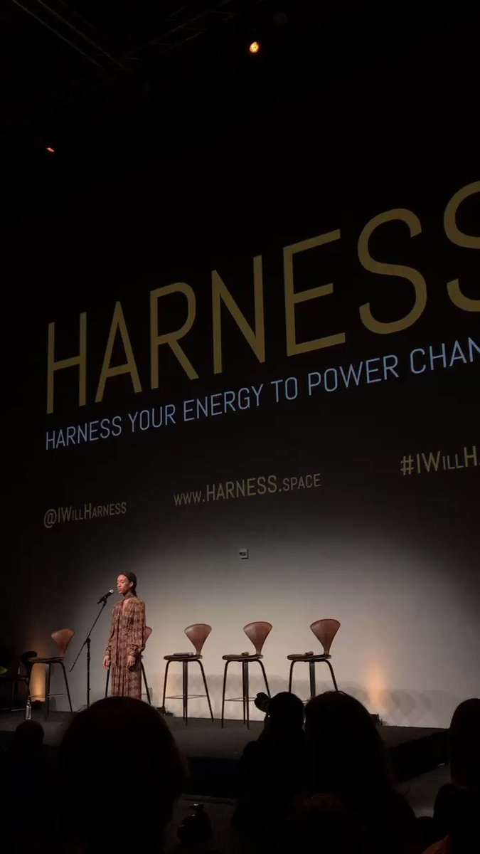 Today @lilzariya changed my life sharing her powerful poem at the incredible @iwillharness event (PT 1) https://t.co/hFfGAHPg8s