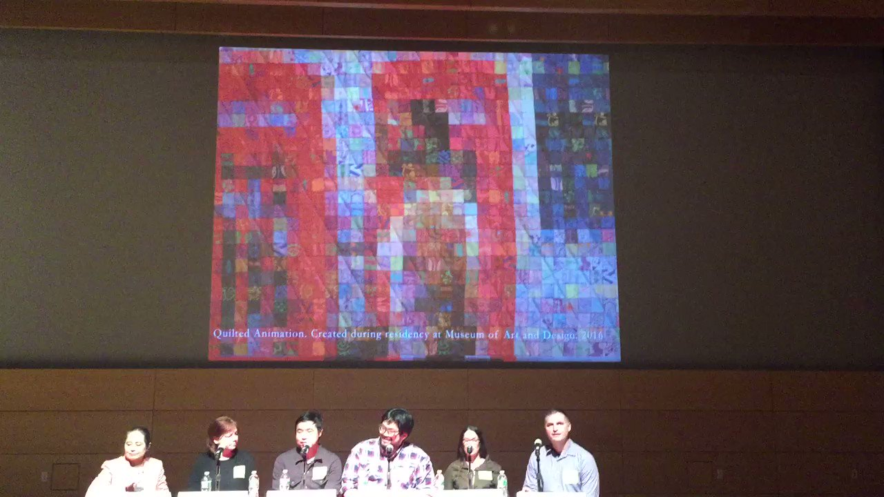 The worlds only animated quilt? From Greg Climer at #TheNthDegree @parsonsamt @TheNewSchool https://t.co/Wmfyst37Ok