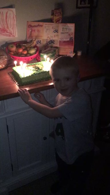 happy birthday! My son\s bday is today he turned 7 he picked a cake with on it