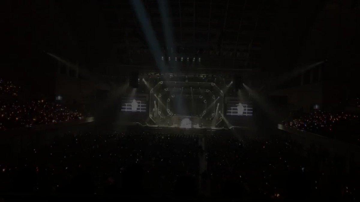 【アイドルマスター SideM アニメ化決定!】アニメ化発表した瞬間の幕張メッセ イベントホール会場の様子です! #si