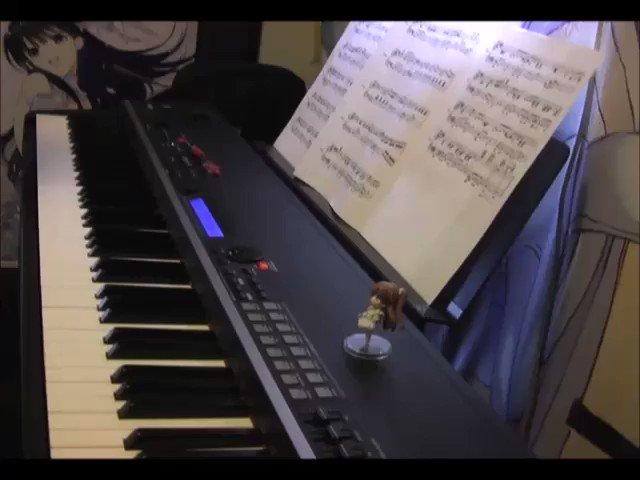 雪菜がよく口ずさんでるこの曲、伴奏を弾いてみたからよかったら歌ってくれ。かずさところで、これ、誰のなんていう曲なんだ?#