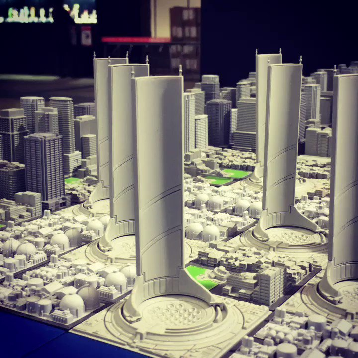 【ジオクレイパー】1/2500スケール超緻密都市型トイジオクレイパーに、エヴァンゲリオンの「第3新東京市」が加わりました