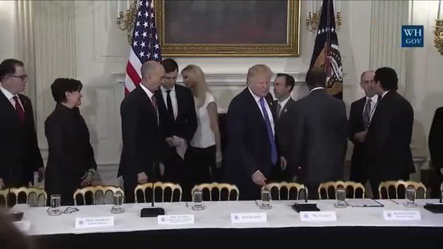 Listening session with manufacturing CEO's at the @WhiteHouse this morning. Watch