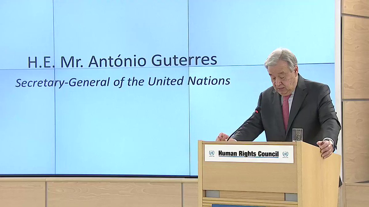 'We must make prevention our priority & address the root causes of conflict' - @AntonioGuterres to #HRC34 this week https://t.co/XRoEDAF1nt