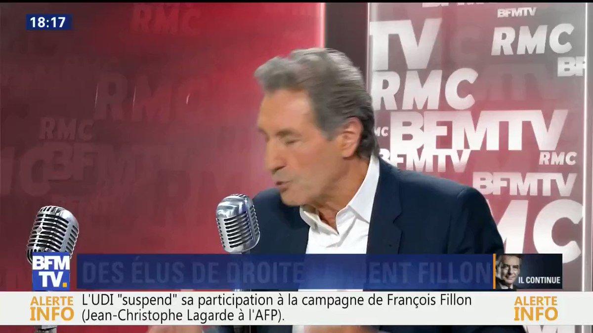 'Mis en examen, je ne serais pas candidat.' François #Fillon en août dernier chez Jean-Jacques Bourdin
