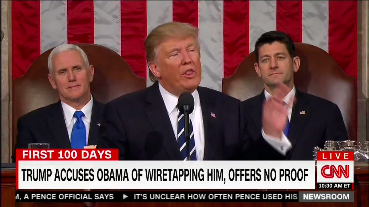 I just noticed that when Trump said 'the time for trivial fights is behind us' Paul Ryan almost started laughing. https://t.co/lAlKQwGnDG