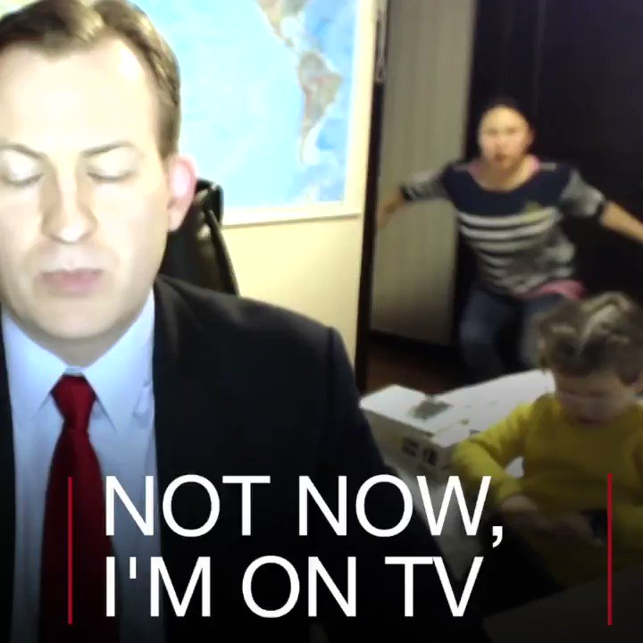When live TV goes wrong...  This BBC TV guest's children become the stars of the show. https://t.co/gVWbcZmASh