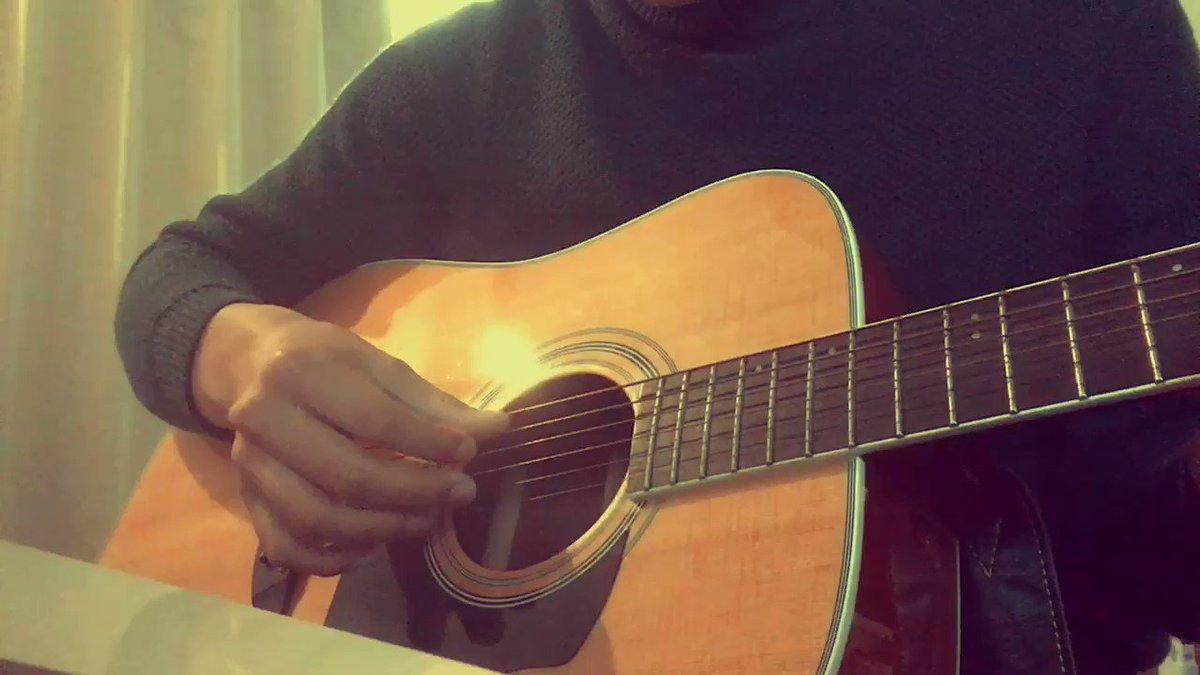 #yuki#弾き語り#奏 #一週間フレンズ ギターから何故か眩しい光が出ているんです 笑笑