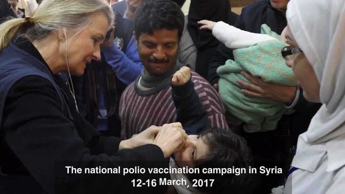 More than 7000 health workers in #Syria are mobilised for the ongoing #polio vaccination campaign https://t.co/pCb8e9sIW3