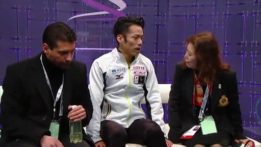 Audience singing Happy Birthday to Daisuke Takahashi    (Worlds 2013 in London)