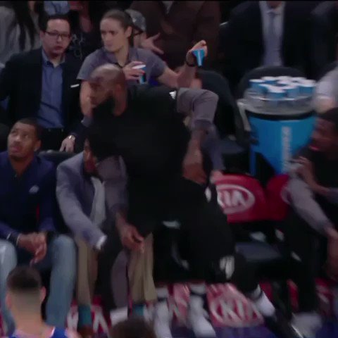 Quincy Acy thought he was being called into play ��  #StayReady https://t.co/uy8xazWtOA