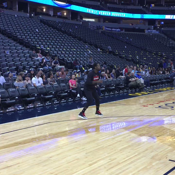 Getting ready for the Nuggets! ���� https://t.co/QQuAu6Jctg