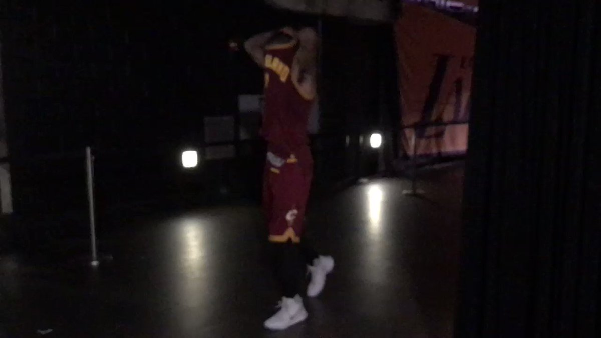 Following his season-high 46, @KyrieIrving dishes out his jersey! #ThisIsWhyWePlay https://t.co/6JYJifPbZ9