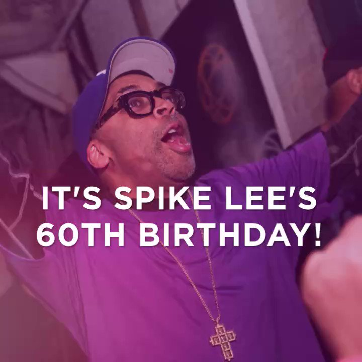 Happy 60th Birthday to the groundbreaking director, actor, and activist SpikeLee!
