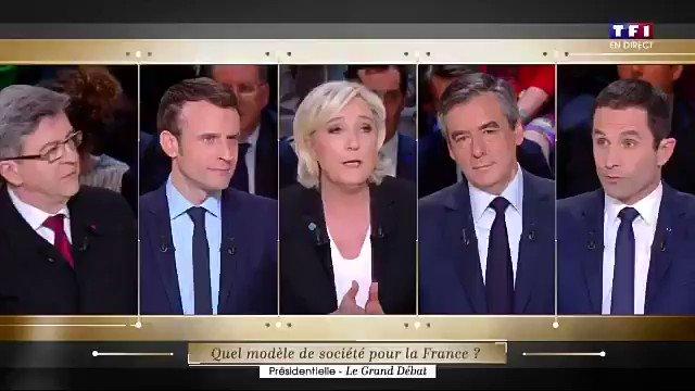 Combat Macron vs Le Pen. Macron, vainqueur par KO. #LeGrandDebat #DebatTF1 https://t.co/2PTplrxHLh