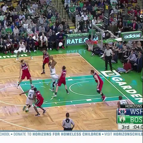Isaiah Thomas just beat out two defenders for a tip-in.   He couldn't believe it either �� https://t.co/jfhfaxBTcH