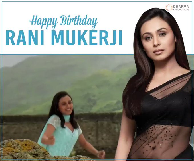 Today we celebrate the birthday of Rani Mukerji.Happy birthday.