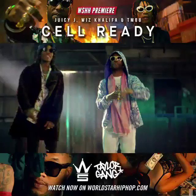 "#WSHH Premiere @TheRealJuicyJ, @WizKhalifa & @TM88 ""Cell Ready"" https://t.co/YyXsVMFKnw @TaylorGang https://t.co/Ef9Polrr4L"