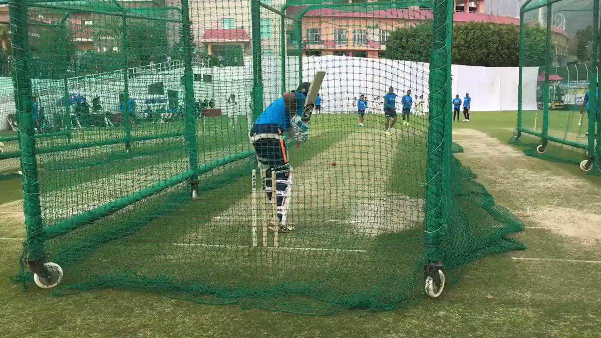 Batting preps on Test match eve #INDvAUS #TeamIndia