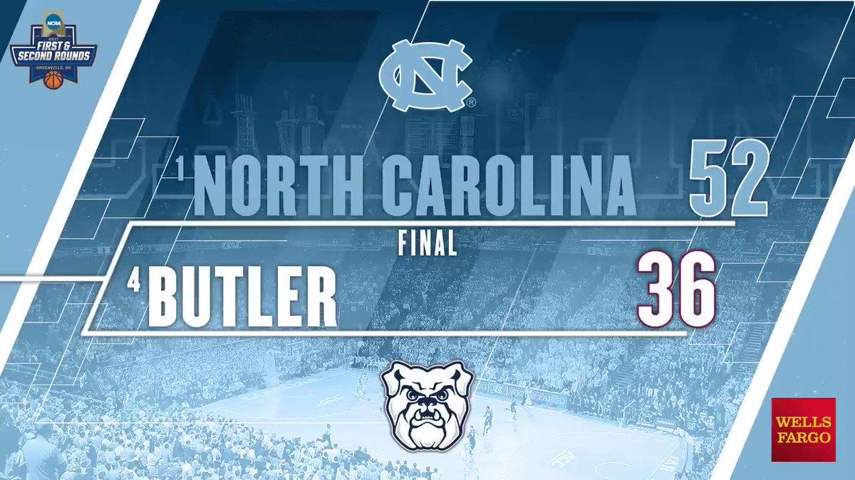 Final Carolina defeats Butler, 92-80#GetIntoIt #Elite8🐑🏀