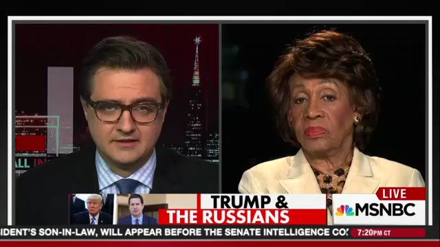 "Rep. Maxine Waters: 'I'm a strong black woman, and I cannot be intimidated."" https://t.co/zn78zlaCOi"