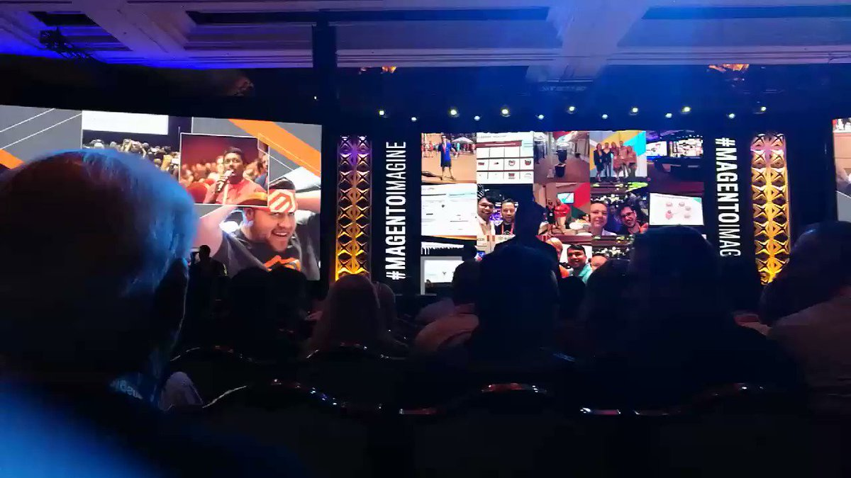 afoucret: #MagentoImagine The room is ready for the second keynote with @serenawilliams https://t.co/nYtjRZHQhr
