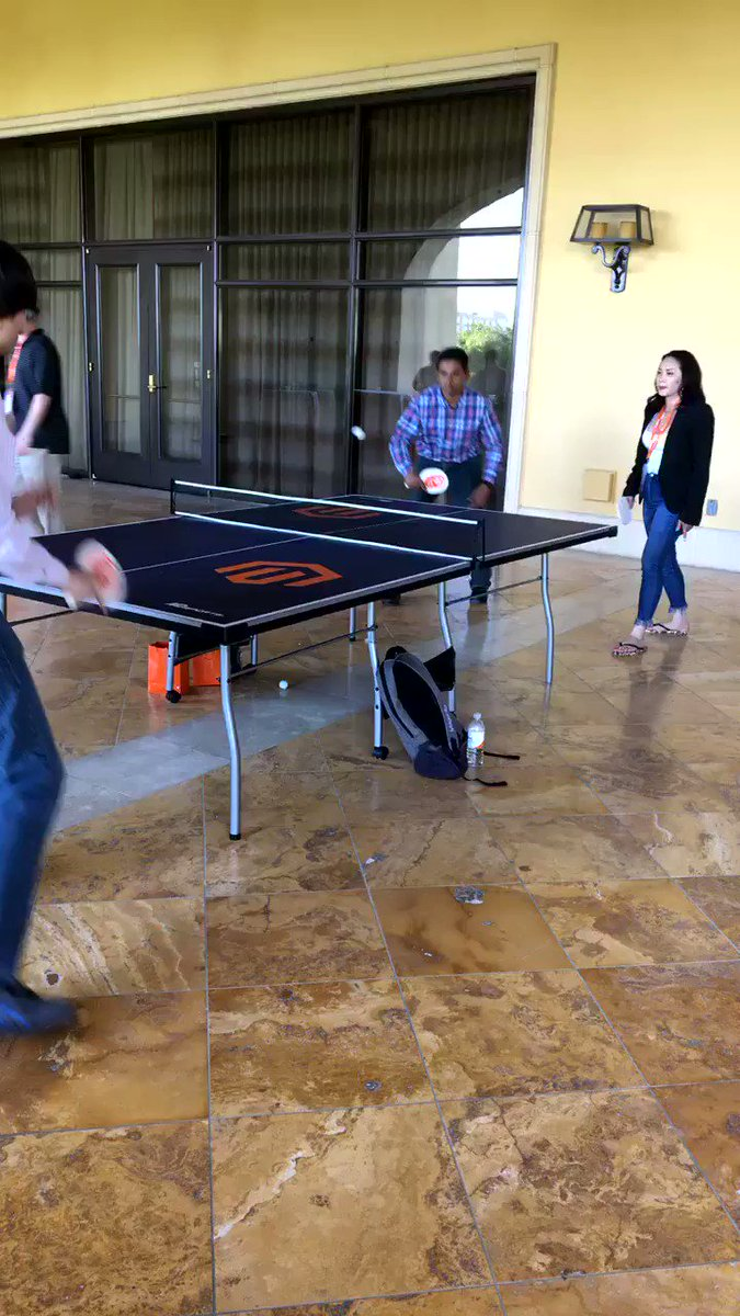 Beth_bef_BethG: Enjoying a little ping pong at the #Magentoimagine Dev exchange @MagentoU https://t.co/7BDLfDdV6I