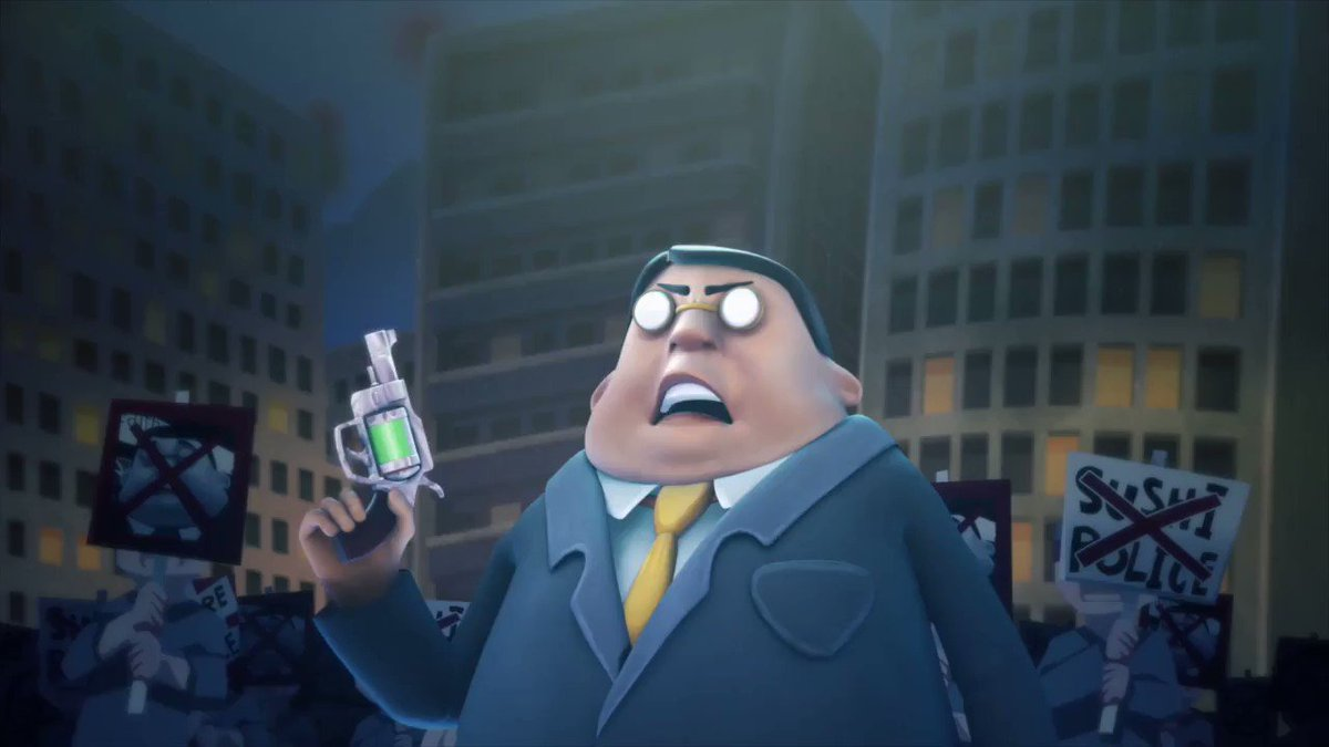 九州方言版 アニメ『SUSHI POLICE めんたい風味』いよいよ本日深夜からKBCにて放送です!内部ではオリジナルを